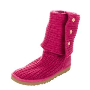UGG Classic Cardy Knit Boot in Pink